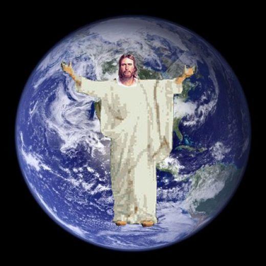 Картинки с иисусом с земным шаром