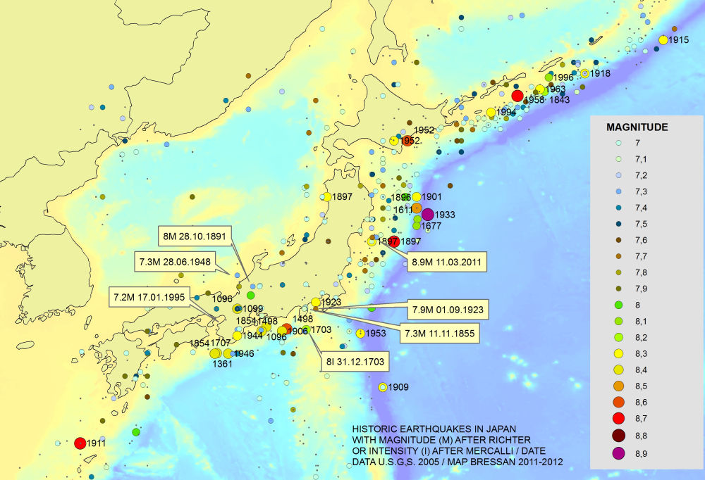 Japan Earthquake map JustMEinTs General Blog