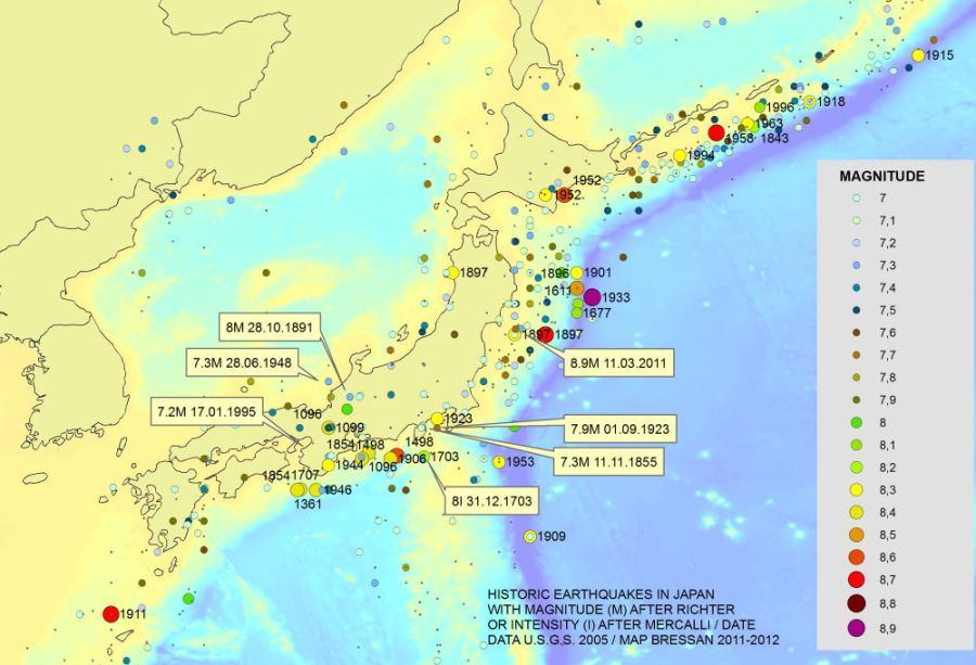 Japan Earthquake Map Today.Japan Earthquake Map Justmeint S General Blog